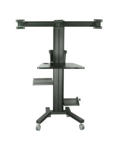 TygerClaw Mobile PC Cart with Screen Mount