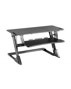 TygerClaw TYDS140036 Gas Spring Sit-Stand Desktop Workstation