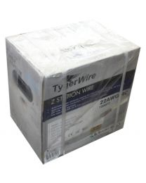 TygerWire 1000-Ft 22-AWG 4-Wire Cable with FT4-CSA-CMR-CL2-UL(White)