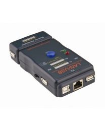 Cable Tester for RJ45,RJ12,BNC,USB Connectors