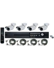 SeqCam Surveillance System Kits with 1 DVR/4 Camera/4 CCTV Cables