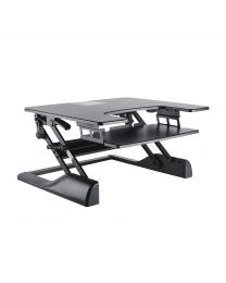 TygerClaw Sit-Stand Desktop Workstation Stand (Black)