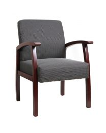 TygerClaw Mid Back Fabric Guest Chair (Mahogany)