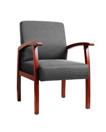 TygerClaw Mid Back Fabric Guest Chair (Cherry)
