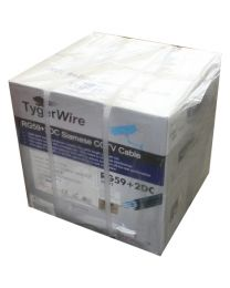 TygerWire 500-Ft RG59 Coaxial Cable with 2 Power Cable-95% Braid-FT4-CMR-CSA-UL(White)