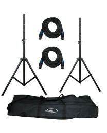 TygerClaw Dual Professional Microphone Stand Kit